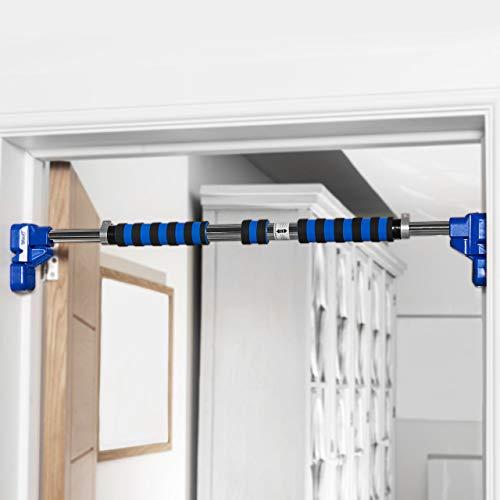 METIS Verstellbare Klimmzugstange | Türrahmen Stange | Heimtraining - Oberkörpertraining | Chinning Bar | Klimmzugstange Türrahmen ohne Schrauben | Klimmzugstange Tür (110cm-130cm)