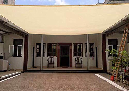 XISENOCI 95% Shade Fabric Sun Shade Tuch, Rechteck Sand UV Block Sun Shade Sail, mit Ösen für Pergola Cover Canopy, perfekt für Outdoor Patio Garden, 4 & mal; 4m