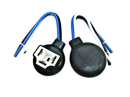 2x H4 Keramik Lampensockel Lampenfassung Stecker Glühlampen-Sockel 12V 24V 90° für alle Scheinwerfer mit H4 Leuchtmittel