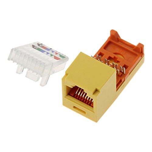 Panduit UTP RJ-45 MiniJack kat5E Yellow Adaptador de Cable - Adaptador para Cable (RJ-45)