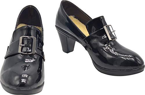 GSFDHDJS Cosplay Stiefel Schuhe for Black Butler Ciel Phantomhive Short Heels