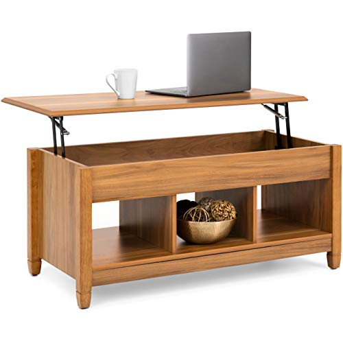 Best Choice Products Modern Home Coffee Table Furniture w/Hidden Storage and Lift Tabletop - Brown