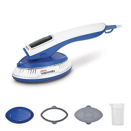 Polti Vaporella Styler GSM20 Vaporizzatore Verticale Portatile, Leggero e Compatto, Adatto per Tutti i Tipi Tessuti per la casa, plastica, Bianco/Blu
