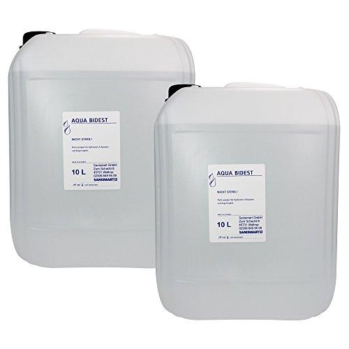 2 x Aqua Bidest Laborwasser besonders rein 10 L