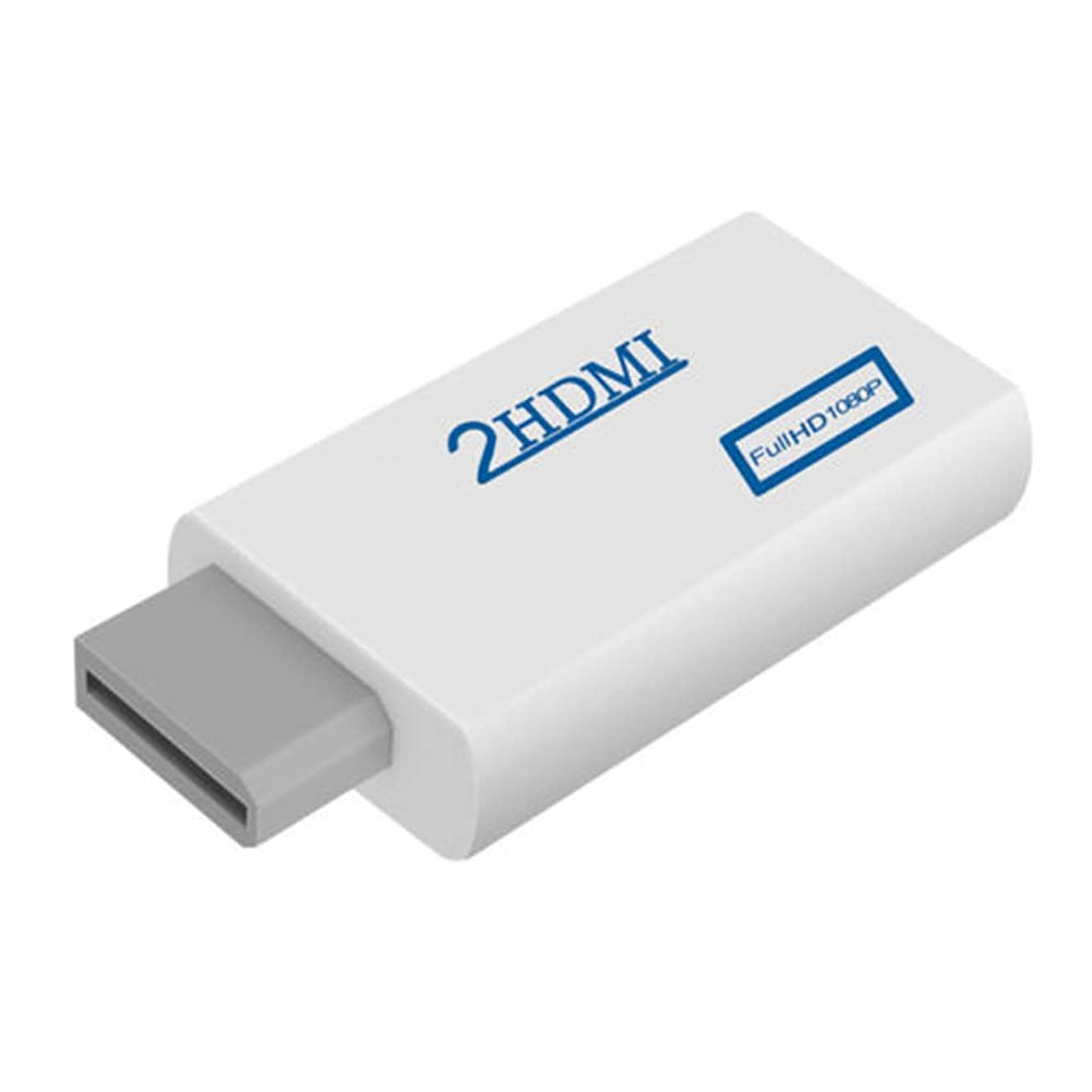 heaven2017 Full HD 1080P 3.5mm Audio Output Jack Converter Adapter for Wii to HDMI White