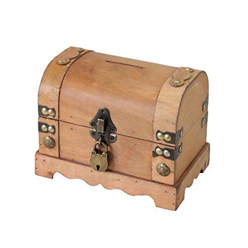 HMF 6414-50 Spardose aus Holz mit Schloss | 18,5 x 12 x 14 cm | Klein | Namibia