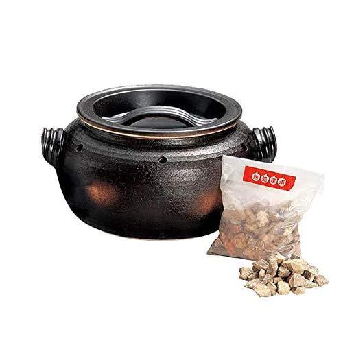石焼いも鍋 いも太郎 天然石付 陶器 万古焼 萬古焼 石焼き芋器 家庭用 焼き芋器 用石付 焼き芋器 石焼き芋鍋 焼き芋鍋 やきいも 焼きいも 日本製 直火OK モダン 黒 ギフト 焼き物 やきもの