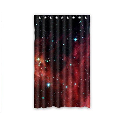 Doubee DUSCHVORHANG coole Galaxy Polyester Thermal Vorhänge 132cm x 213cm (1 Stück)