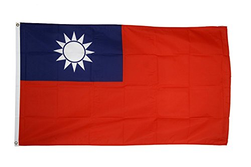 Fahne / Flagge Taiwan + gratis Sticker, Flaggenfritze®