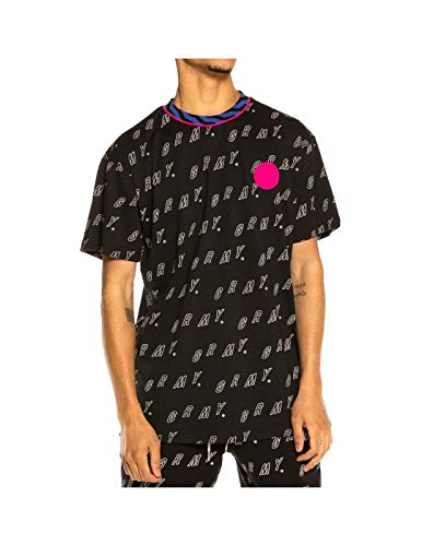 GRIMEY Camiseta Urmah Dojo All Over Print tee SS20 Black-S