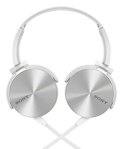 Sony MDR-XB450AP Extra Bass-Kopfhörer mit integriertem Mikrofon weiß