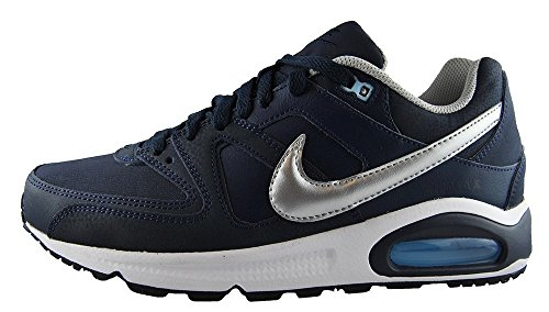 Nike Air Max Command, Scarpe da Corsa Uomo, Blu (Obsidian/Metallic Silver/Bluecap/White 401), 44.5 EU