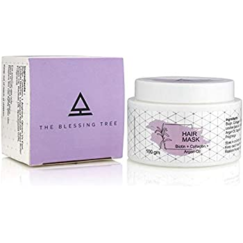 The Blessing Tree Hair Mask with Biotin, Collagen Argan Oil for Dry, Damaged and Frizzy Hair. 100 gm