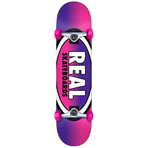 Real Rosa Purpur Oval Fades Mini - 7.38 Inch Skateboard Komplett (One Size, Rosa)