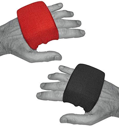 Dynamix Athletics Gel Knuckle Guards - Tobillera elástica para vendajes de boxeo (negro)
