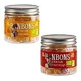 Caramelos Naturales Sin Colorantes La Maison d'Armorine: Cítricos + Frutos Rojos, Producto Orgánico - 2 x 120 Gramos