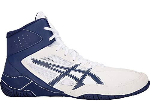 ASICS MATCONTROL Wrestling Shoes, White/Indigo Blue, Size 9