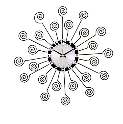 TBUDAR Reloj De Pared De Pared 3D Pared De Pared Reloj De Espiral, Creativo Handcraft Sunburst Decoración De Reloj para Sala De Estar