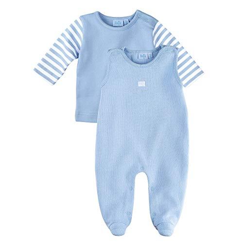 Feetje Grenouillère avec T-Shirt bébé Ensemble bébé, Bleu Clair