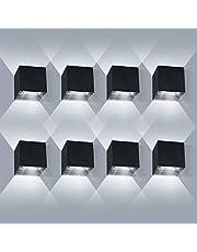 LEDMO LED Wandlamp Binnen/Buiten 2er 12W 3000K Warmwitte Buitenverlichting wandverlichting LED Buitenwandlamp met Verstelbare Stralingshoek IP65 Waterdicht 1000lm