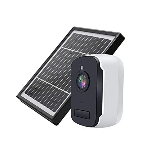 Cámara de seguridad solar con batería recargable al aire libre con agua inalámbrica de WiFi Cámara CCTV 1080P PIR Detección de movimiento IP66 Tarjeta a prueba de agua / almacenamiento en la nube para