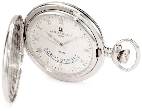 Relógio de bolso Charles-Hubert, Paris 3900-W Coleção Clássica Acabamento polido Hunter Case Quartz