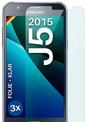moex Protector de pantalla transparente compatible con Samsung Galaxy J5 (2015) – Protector de pantalla transparente, protector de pantalla HD, película fina resistente a los arañazos, 3 unidades
