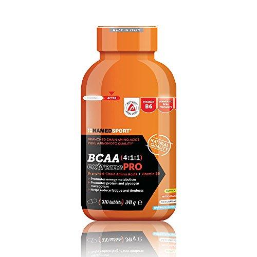 1x NAMEDSPORT BCAA 4:1:1 EXTREME PRO 310compresse (aminoacidi ramificati per sport ad alto rendimento) + OMAGGIO 10x WEIDER YIPPIE BAR 45g LOW CARB - NT INTEGRATORI