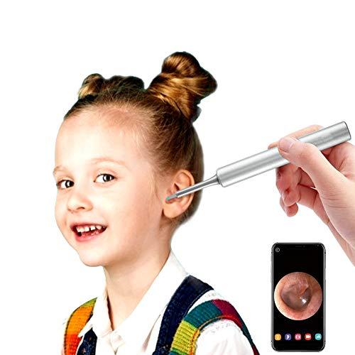 WiFi Otoskop, 3,9 mm Digital 1080P HD Ohrendoskop Kamera mit 6 LED Leuchten, Ohrenschmalz Entferner für Erwachsene Kinder, kompatibel mit iPhone/iPad, iOS, Android