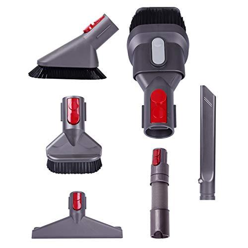 Accesorios Fit Dyson, adecuado para Dyson, 6 piezas de repuesto de cepillo de limpieza, kit de herramientas compatible con Dyson V8 V7 V10 accesorios de aspiradora