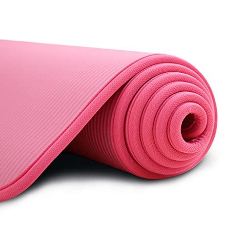 DEENGL Esterilla de yoga antideslizante de 10 mm de grosor, 183 cm x 61 cm, apta para fitness, sin olor, pilates, ejercicio y vendaje