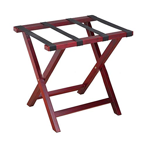 ZYL-YL Luggage Rack Folding Luggage Rack With Shelf (Pack Of 1),Luggage Stand For Suitcase, For Home, Bedroom Luggage Rack Suitcase Stand (Color : Wine red, Size : One size)