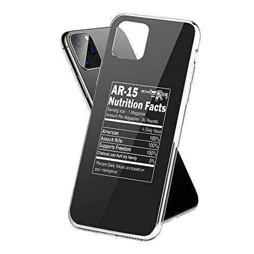 Protective Phone Cases iPhone 11 Pro with Assault Rifle Ar 15 Nutrition Facts Funny Design on Premium PC Hard Back - 2019 Best Essential Accessories