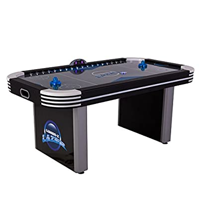 Triumph Lumen-X Lazer 6' Interactive Air Hockey Table Featuring All-Rail LED Lighting and In-Game Music by Escalade Sports