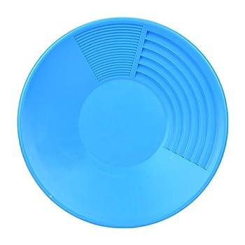 BIKING Outils de panoramique en Or en Plastique, Casserole en Or Bleu en Plastique avec Outil de Lavage en Or à Double Fusil pour Le dragage minier