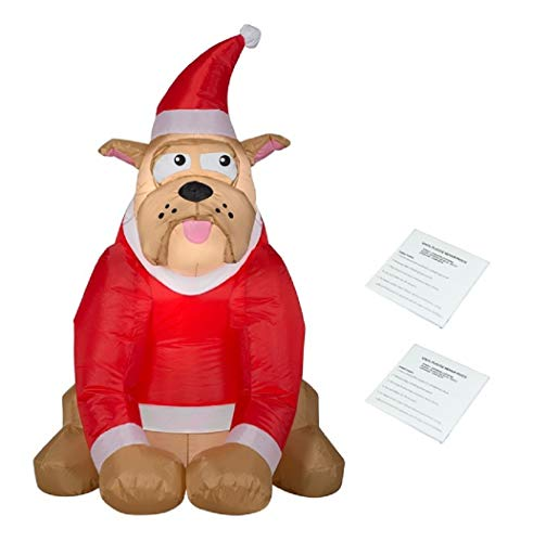 Visit the Gemmy Store Holiday Time English Bulldog Inflatable, Lights Up, 3.5 Feet Tall, Comes with Two Additional Repair Patch Kits