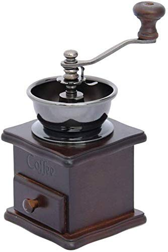 Allamp Acero Retro de Madera sólida Máquina de café Inoxidable Core Molinillo de café Molinillo de café Mano