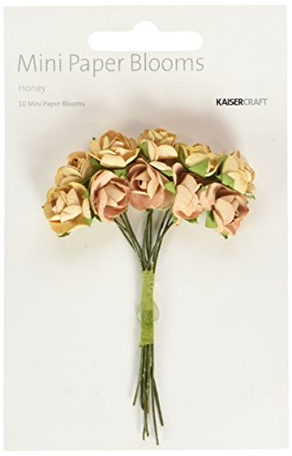 Kaiser Craft Mini Paper Blooms, Honig
