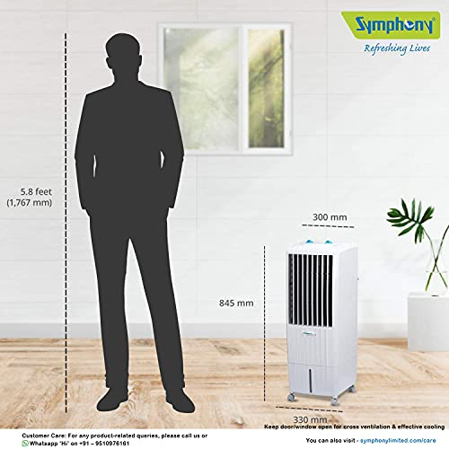 Symphony Diet 12 T Tower Air Cooler - 12 Liter, White