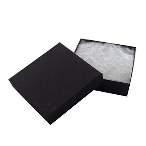 JPI DISPLAY #33 Cotton Filled Boxes, 3.5' L x 3.5' W, Matte Black, 100 Count