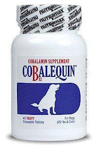 Cobalequin Cobalamin Supplement Vitamin B12 for Dogs Over 22 pounds Chicken Flavor