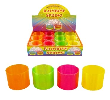 Toyland Magic Slinky Bright Couleurs Springs Toy Bouncey Fun 4 Couleurs Assorties !!!