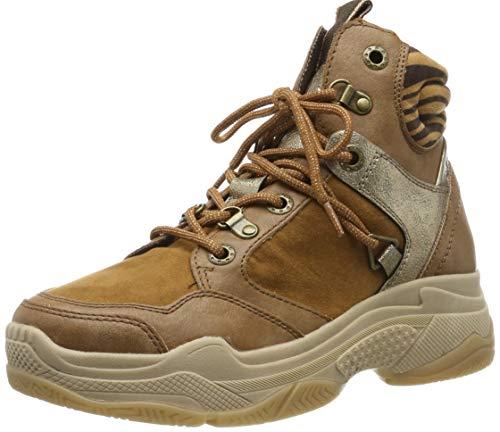 s.Oliver Damen 5-5-25236-23 Hohe Sneaker, Braun (Dk Cogn.Leo 398), 40 EU