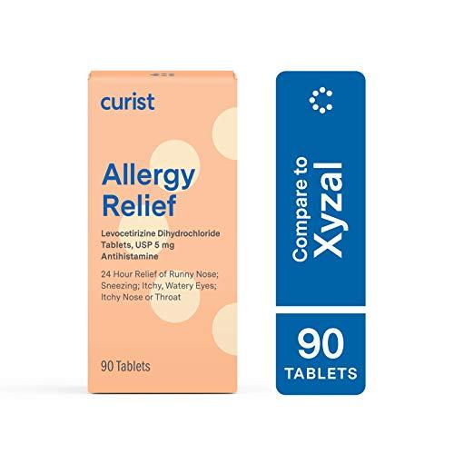 Curist - Generic Xyzal Levocetirizine 5 mg - (90 Tablets) - Allergy Pills, 24 Hour Allergy Relief - Allergy Medicine