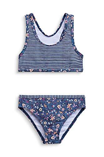 ESPRIT LONG BEACH MG bustier+brief Bikini-Set, Mädchen, Blau 116/122