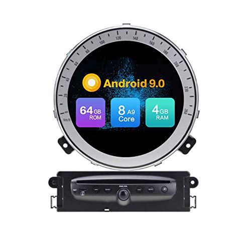 Android 10 Stereo DVD 4G Ram 64G Rom Autoradio Geographisches Positionierungs System Navigation Radio FürBMW Mini Cooper R56 (2006-2013)