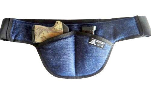 Fat Man - Small - DTOM Denim Possum Pouch Crotch Carry Holster - The Smart Way to Carry! Fits Small Size Guns
