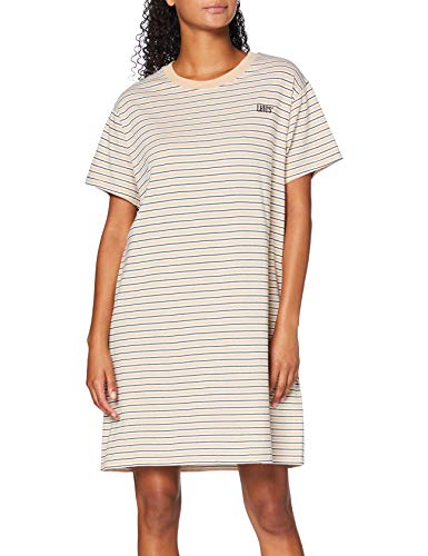 Levi's Damen Casual, Serif Lula Tee Dress Caviar & Moonstone Stripe, Large
