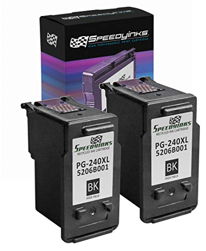 SPEEDYINKS Speedy Inks Remanufactured Ink Cartridge Replacement for Canon PG-240XL 5206B001 High-Yield (Black, 2-Pack)