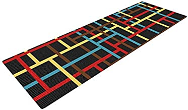 Kess InHouse Trebam Veza Yoga Exercise Mat, Modern Lines, 72 x 24-inch